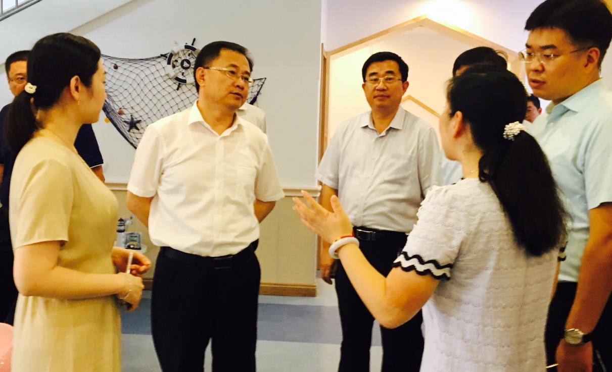 青岛市教育局领导莅临智慧熊瑞海幼儿园指导工作